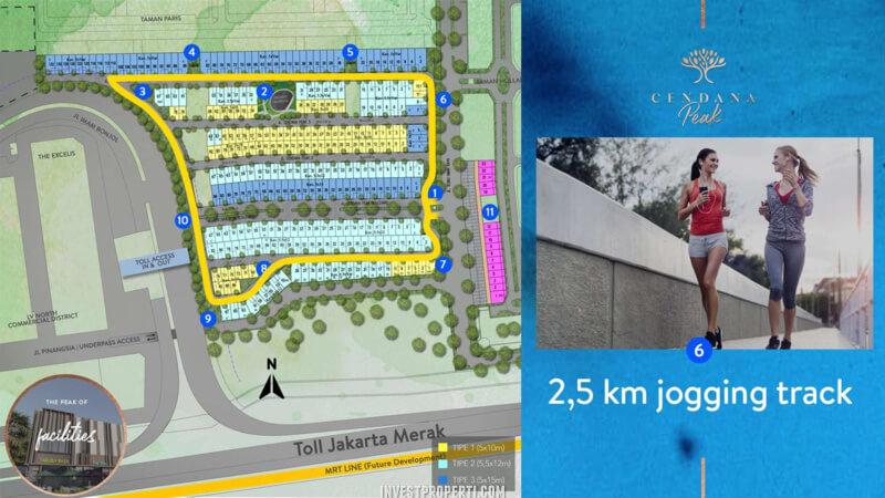 Fasilitas Cendana Peak Avenue Plaza - Jogging Track