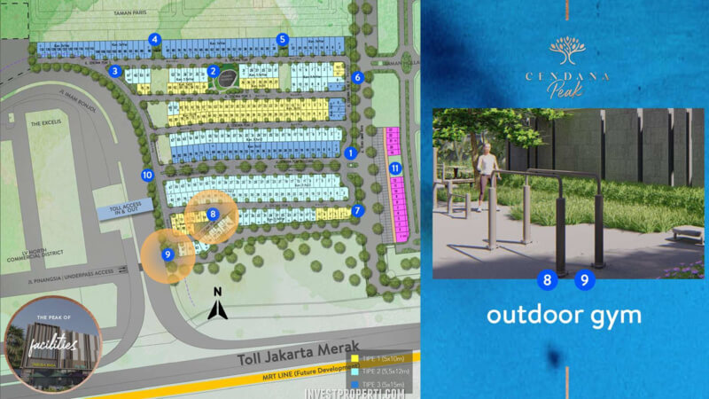 Fasilitas Cendana Peak Avenue Plaza - Outdoor Gym