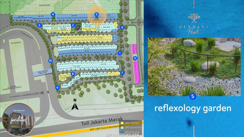 Fasilitas Cendana Peak Avenue Plaza - Reflexology Garden