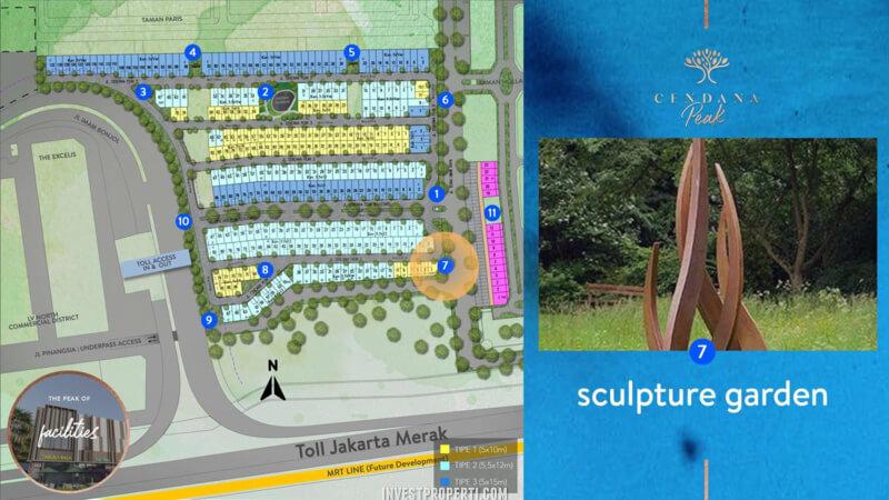 Fasilitas Cendana Peak Avenue Plaza - Sclupture Garden