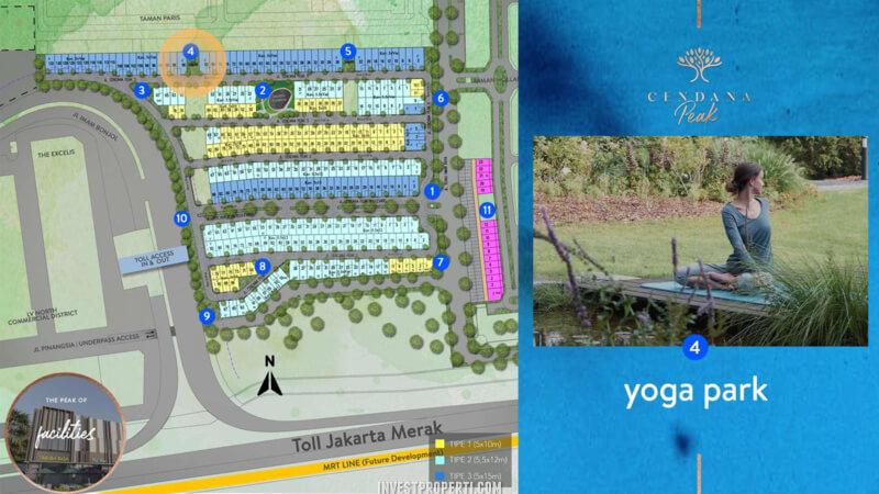 Fasilitas Cendana Peak Avenue Plaza - Yoga Park