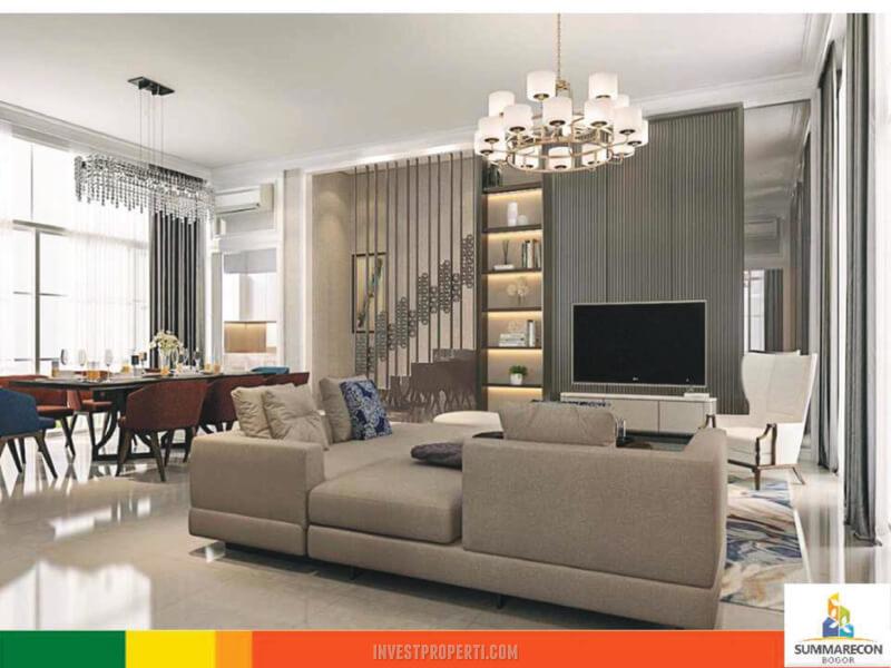 Interior Rumah Agatha Golf Residence TIpe Hoek Premium