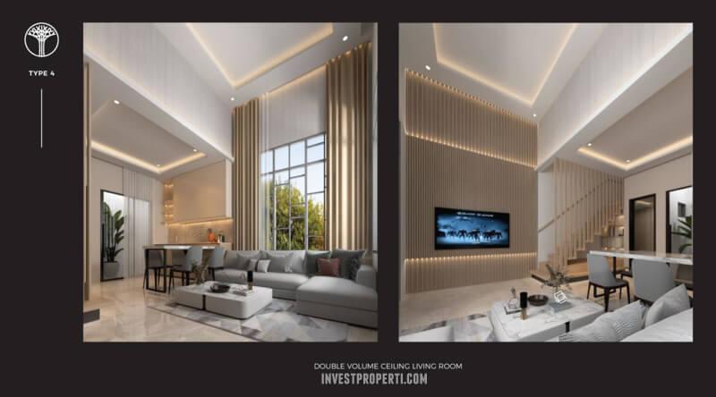Interior Rumah Sentosa Park Tangerang Tipe 4