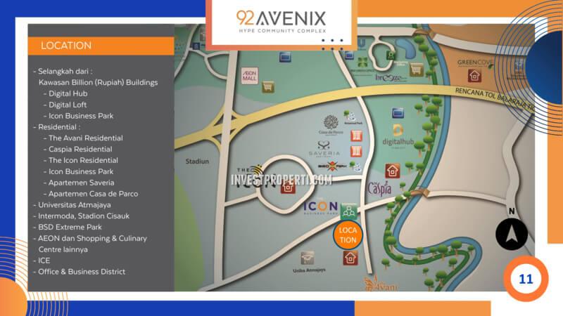 Lokasi Ruko 92 Avenix BSD