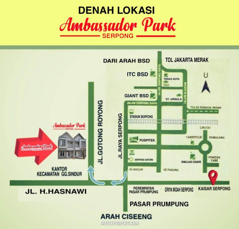 Lokasi Ambassador Park Serpong