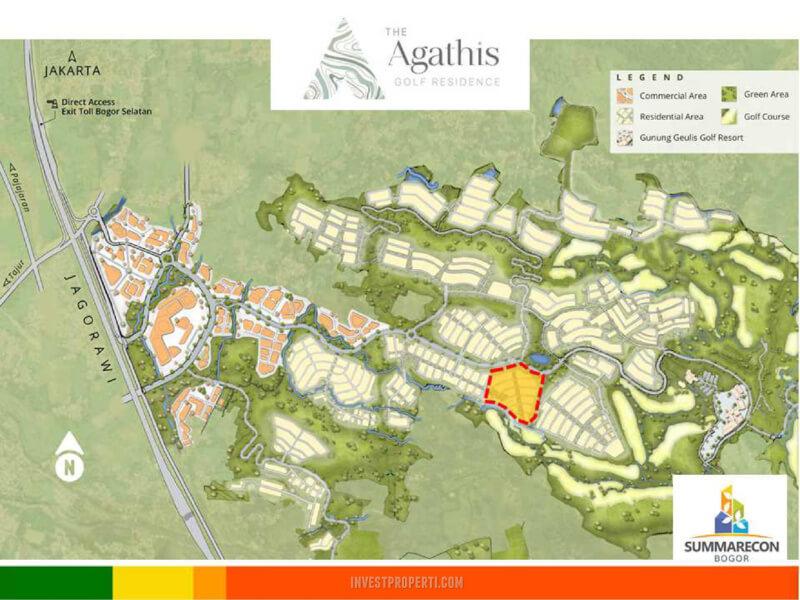 Lokasi Cluster Agathis Golf Residence Summarecon Bogor