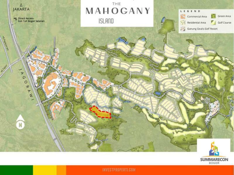 Lokasi Cluster Mahagony Island Summarecon Bogor