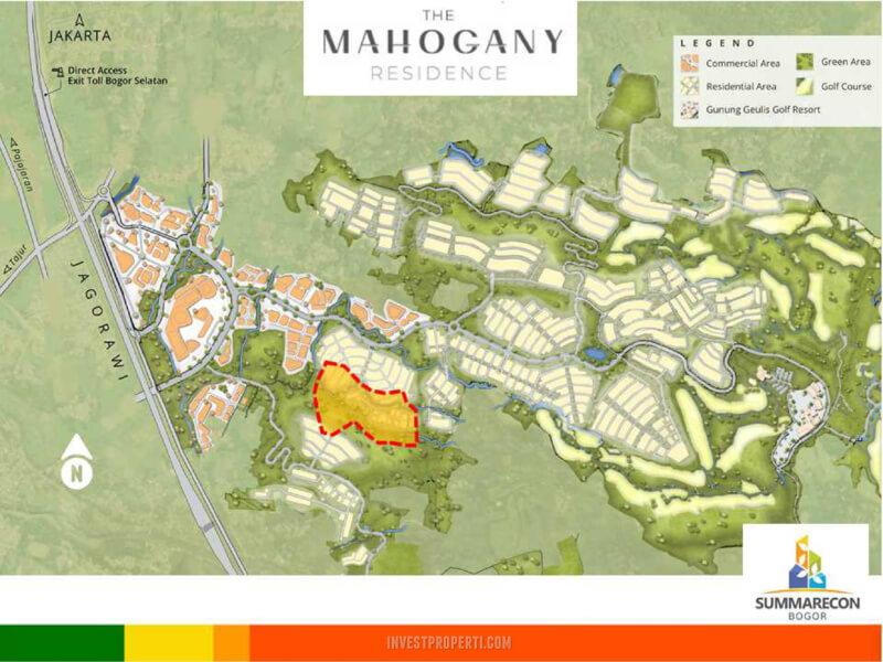 Lokasi Cluster Mahagony Residence Summarecon Bogor