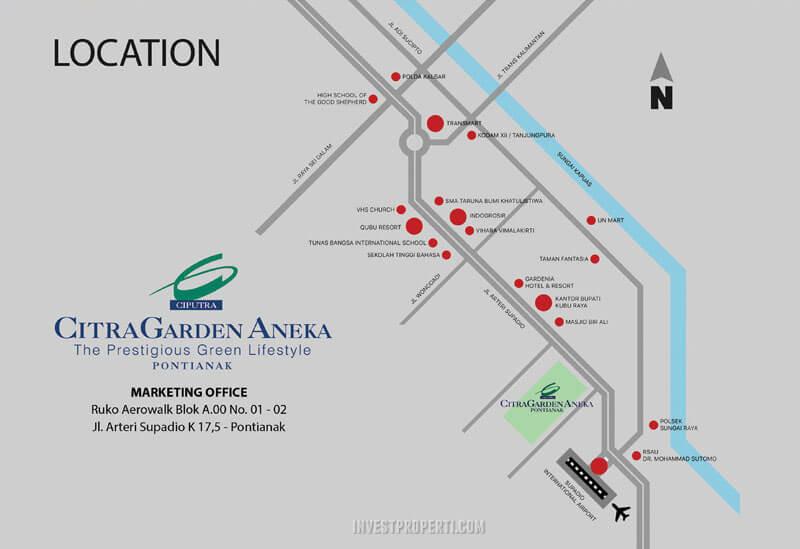 Lokasi Ruko Aerowalk CitraGarden Aneka