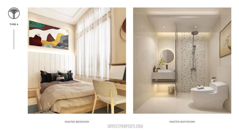Master Bedroom Rumah Sentosa Park Tangerang Tipe 4
