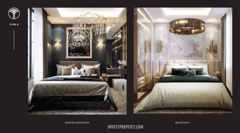Master Bedroom Rumah Sentosa Park Tangerang Tipe 6
