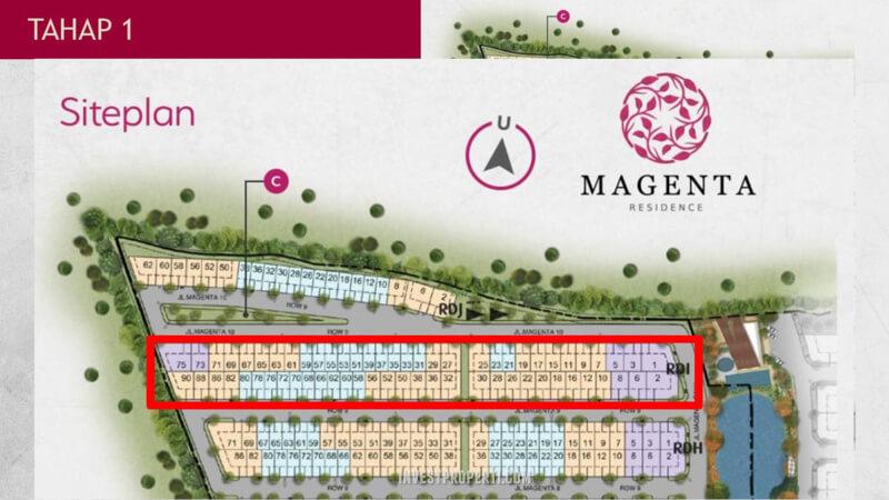 Penjualan Unit Rumah Magenta Residence Summarecon Bekasi Tahap Pertama
