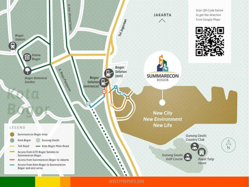 Peta Lokasi Summarecon Bogor
