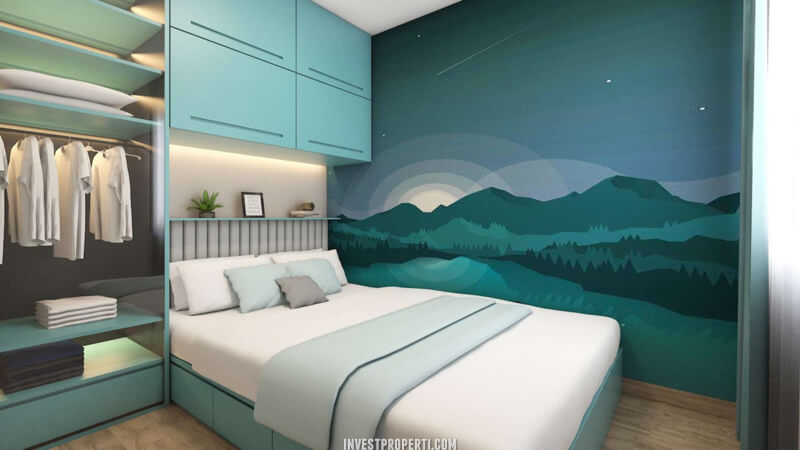 Interior Rumah Cendana Peak Tipe Park Balcony - Master Bedroom