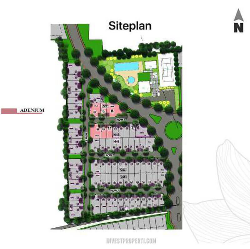 Siteplan Rumah CitraGarden Aneka Tipe Adenium