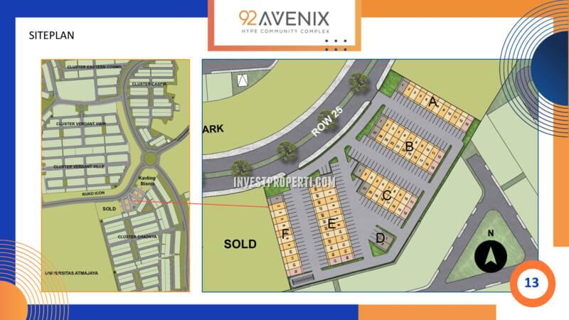 Siteplan 92 Avenix BSD City