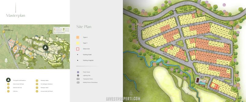 Siteplan Agathis Golf Residence Summarecon Bogor