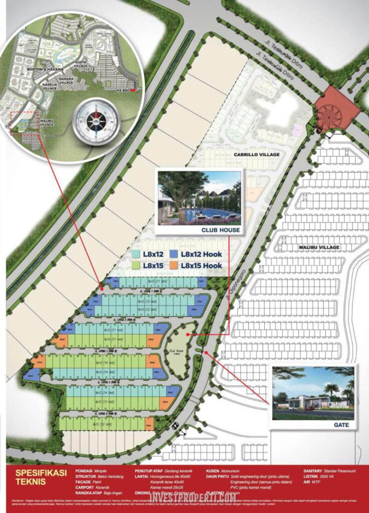 Siteplan Cluster Latigo Village