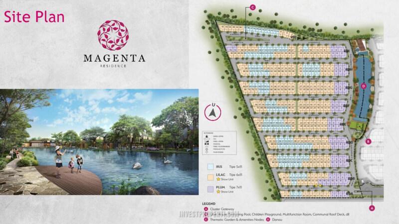 Siteplan Cluster Magenta Residence Bekasi