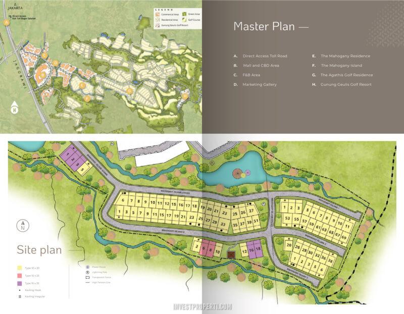 Siteplan Mahogany Island Summarecon Bogor