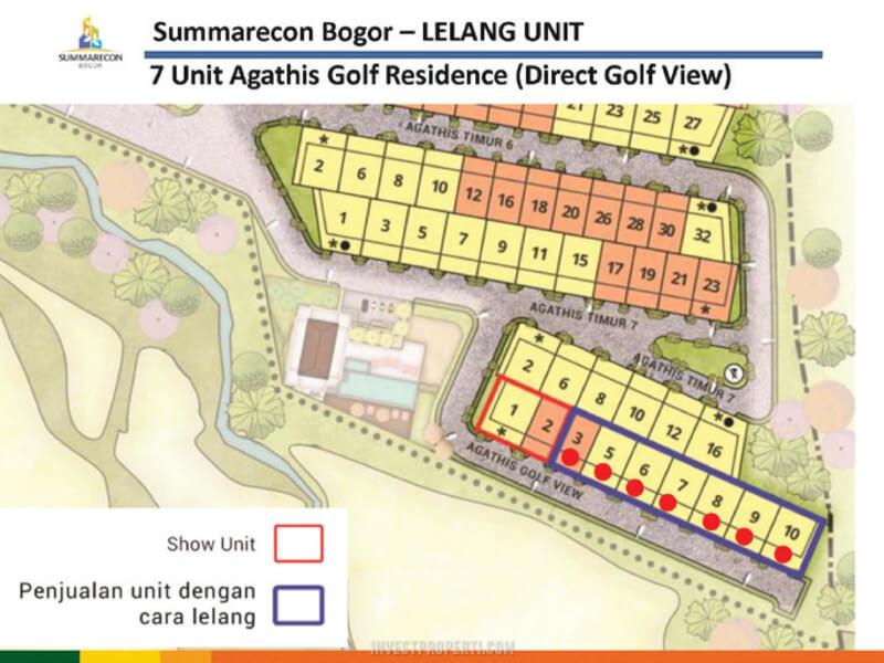 Siteplan Agatha Gold Residence Sistem Lelang