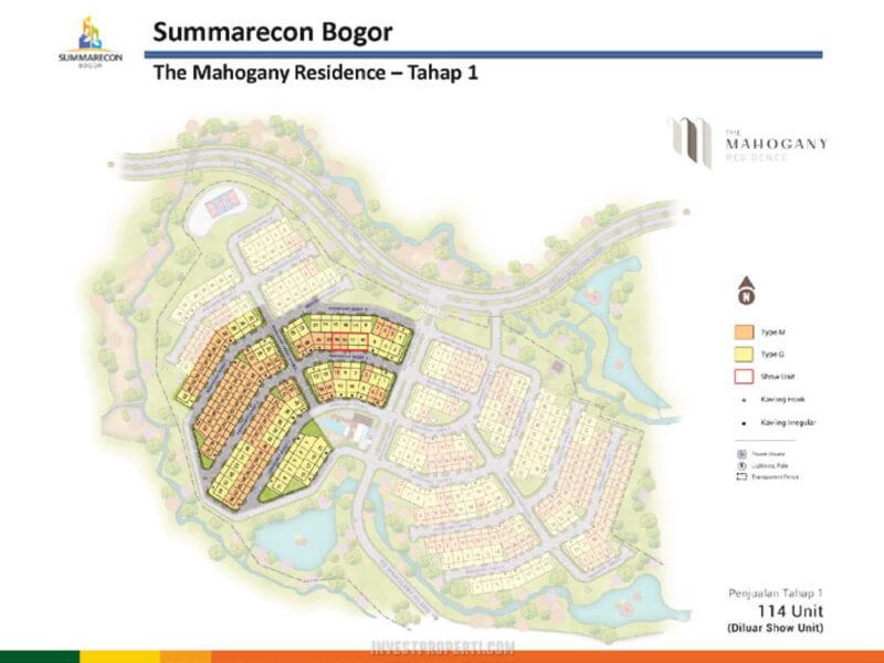 Siteplan Mahogany Residence Tahap 1