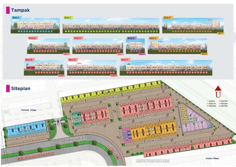 Siteplan Ruko Pisa Grade Paramount Serpong