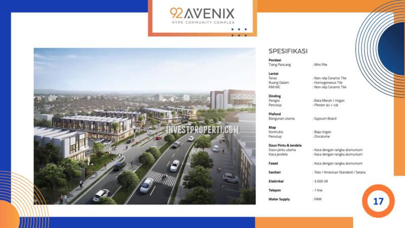 Spek Ruko 92 Avenix BSD City