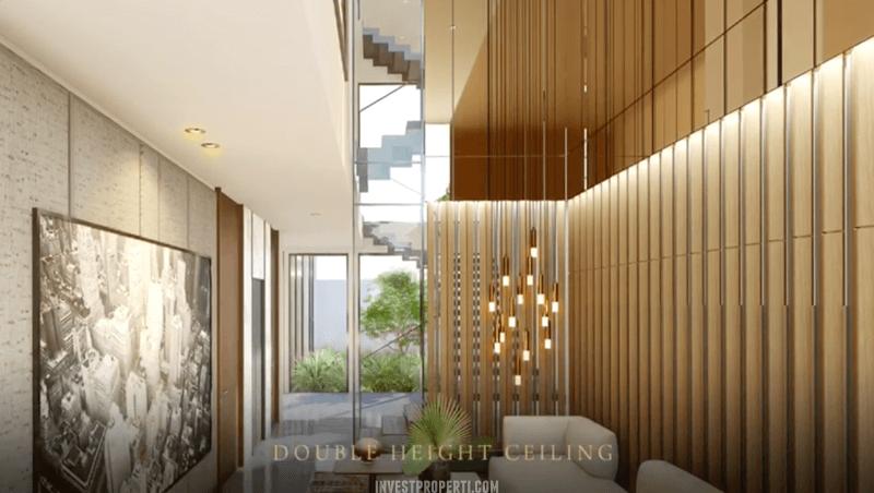 Interior Rumah Lyndon Navapark BSD Living Room