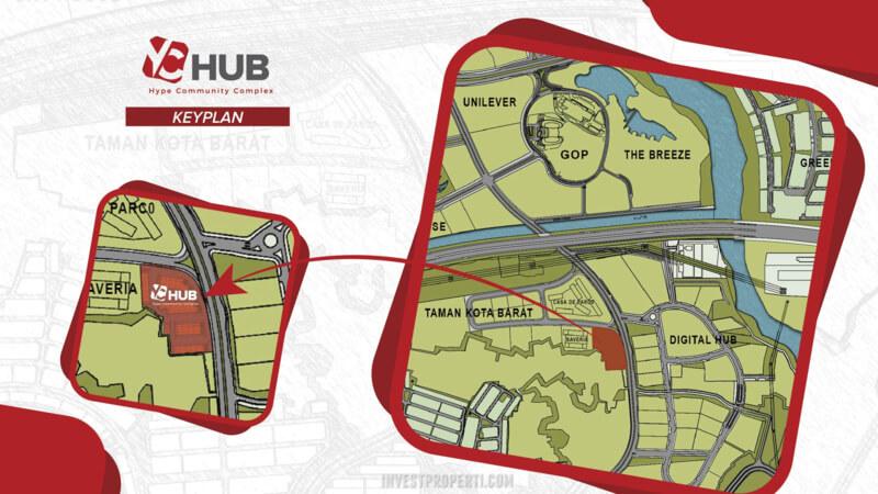 Key Plan Ruko YC Hub BSD