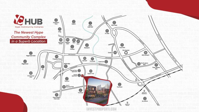 Peta Lokasi YC Hub BSD