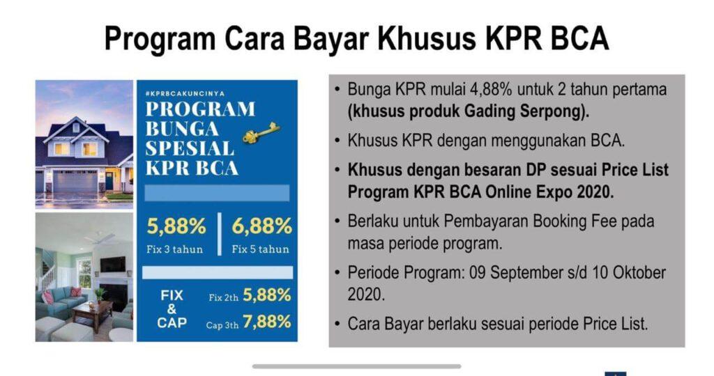 Cara Bayar KPR BCA Online Expo 2020 Paramount Land
