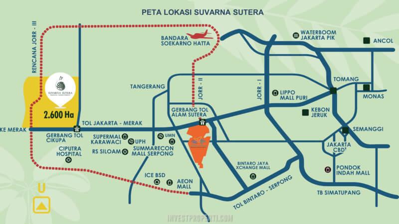 Peta Lokasi Suvarna Sutera 2020