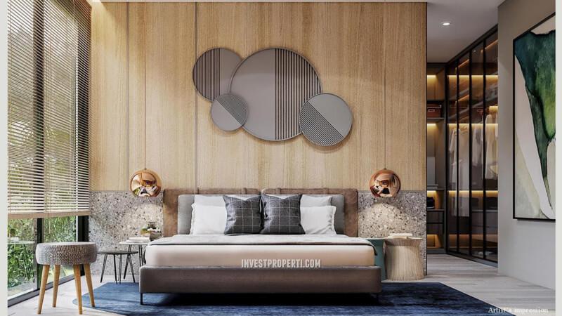 Interior Master Bedroom Rumah Lyndon Navapark Tipe 12