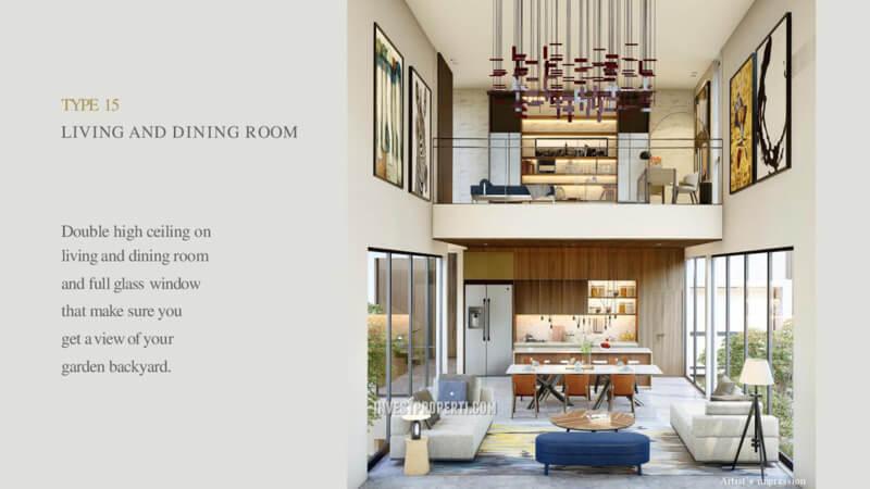 Living Room Rumah Lyndon Navapark Tipe 15