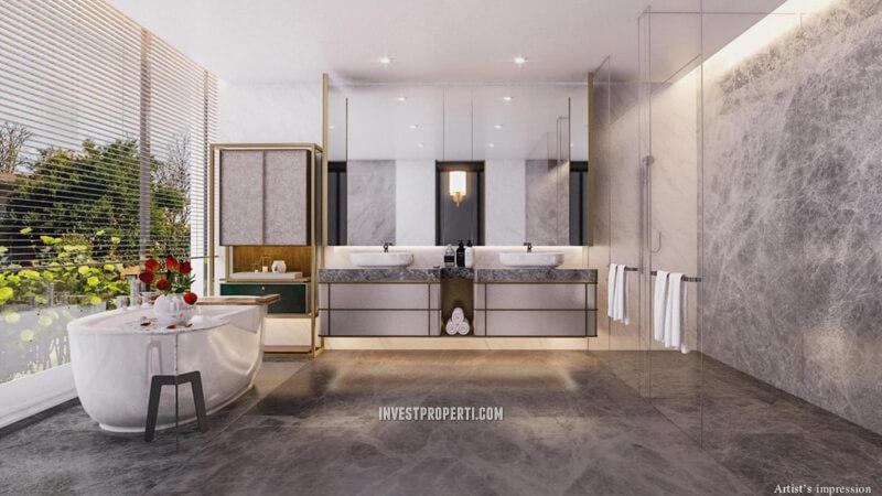 Master Bathroom Rumah Lyndon Navapark Tipe 15