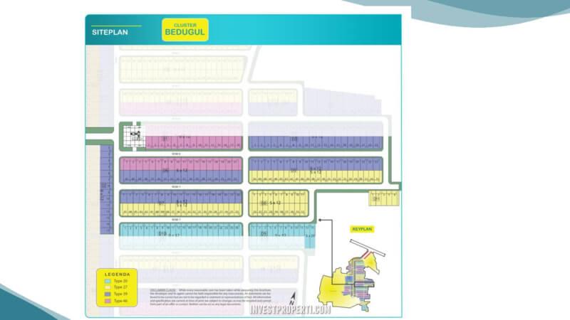 Siteplan Cluster Bedugul Telaga Legok Serpong