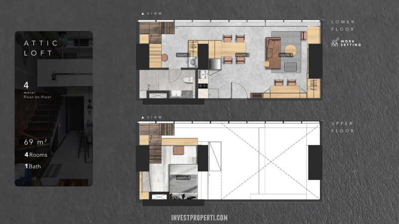 SOHO Flex Space Fairview Millenium Lippo Village Shibui Attic Loft Floor Plan