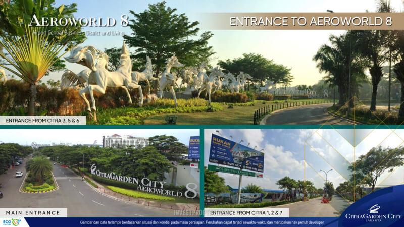 Aeroworld 8 Jakarta Entrace