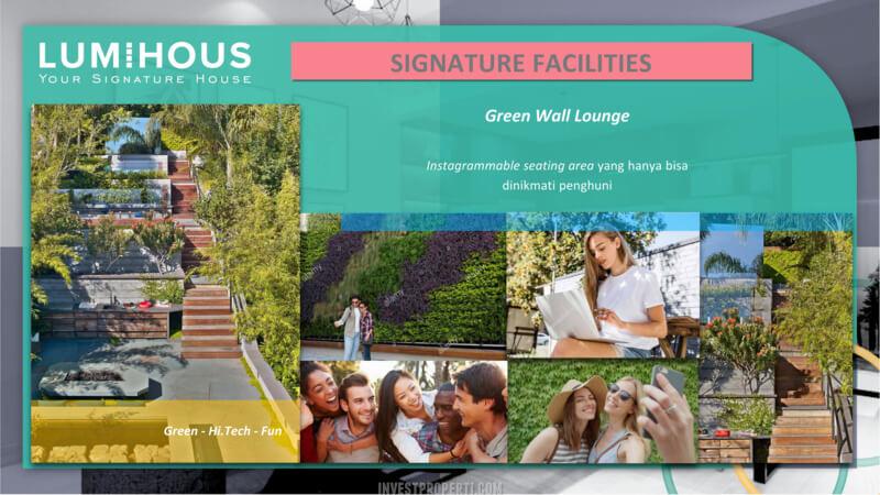 Cluster LumiHous Legenda Wisata Cibubur - Green Wall Lounge