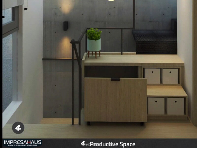 Interior Design Rumah Impresahaus BSD - Production Space