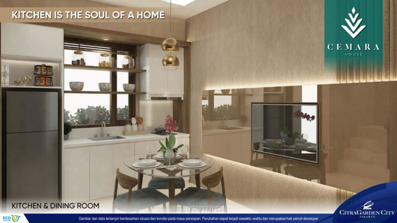Interior Rumah AeroHome Cemara House - Dining Room