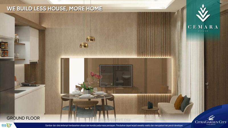 Interior Rumah AeroHome Cemara House - Ground Floor