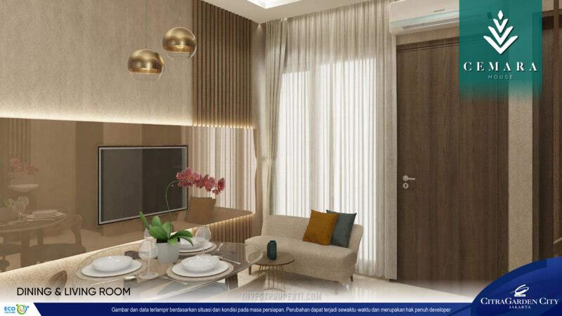 Interior Rumah AeroHome Cemara House - Living Room