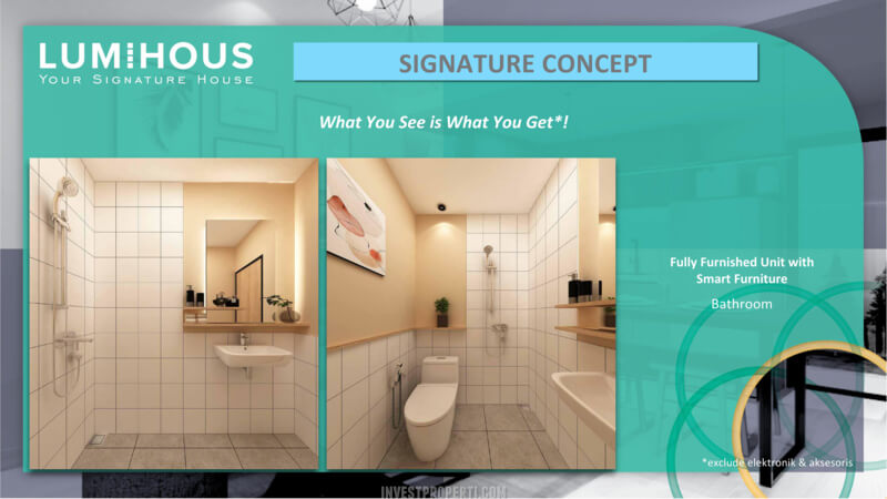 Interior RUmah LumiHous Legenda Wisata Cibubur - Bathroom
