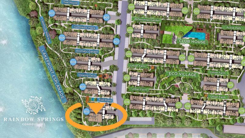 Master Plan Rainbow Springs Condovillas Unit Baru
