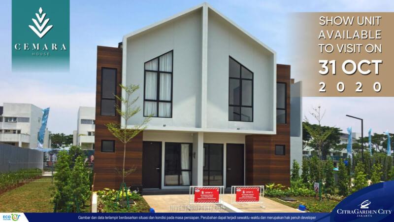 Show Unit Rumah Cluster Aerohome Cemara House