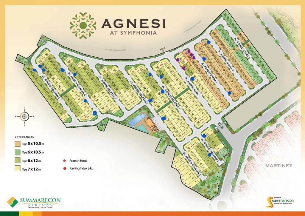 Siteplan Cluster Agnesi Open Unit 2020