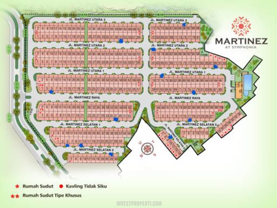 Siteplan Cluster Martinez Summarecon Serpong Unit 2020