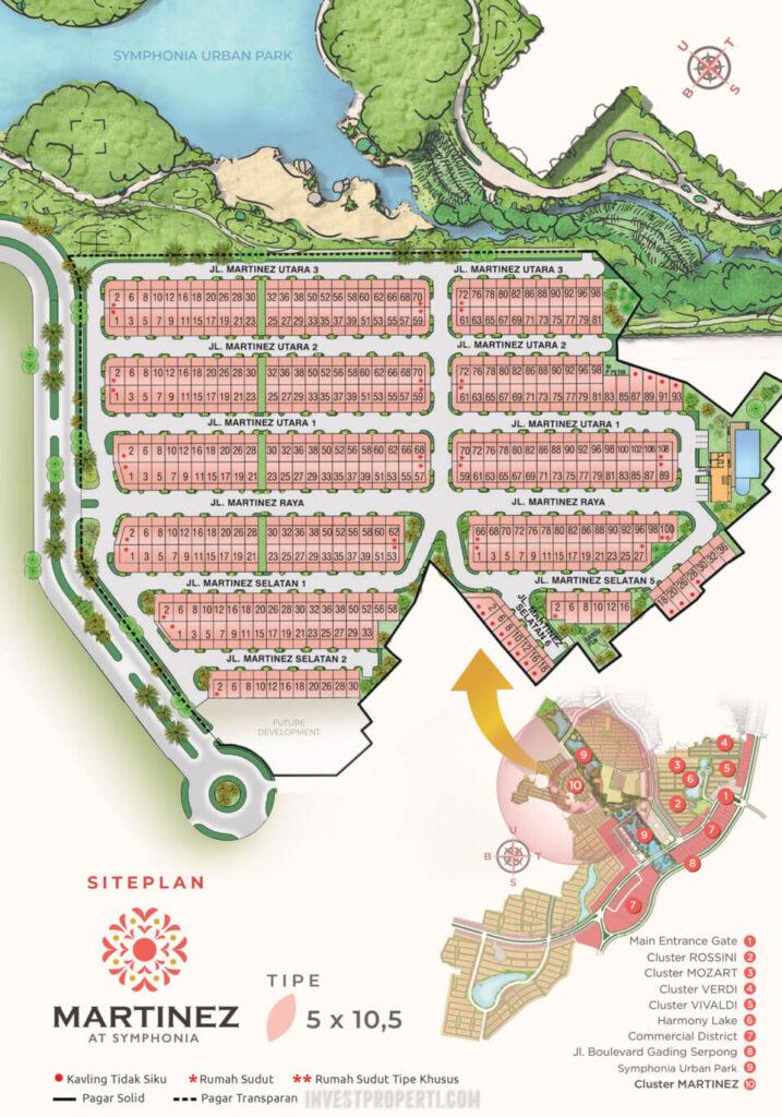 Siteplan Cluster Martinez Summarecon Serpong